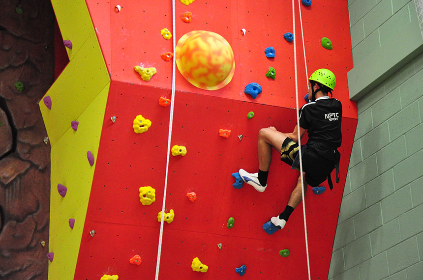 Climbing Wall At Llandarcy Academy of Sport