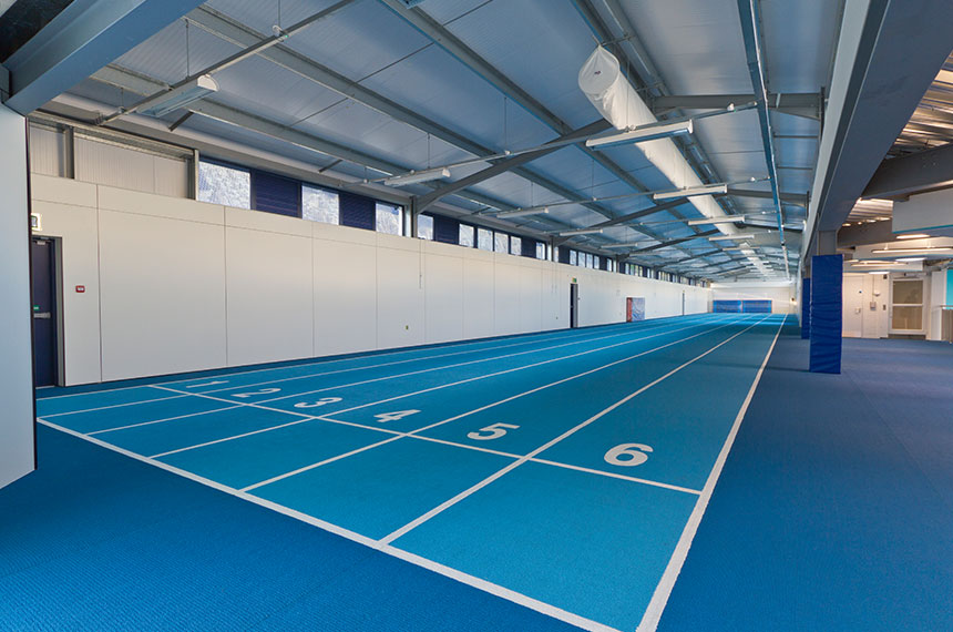 Indoor Track At Llandarcy Academy of Sport